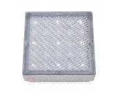 Quadratische LED-Bodeneinbauleuchte Walkover, 8 cm