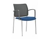 Konferenzstuhl / Besucherstuhl / Stuhl Girsberger YANOS V 200 schwarz/blau