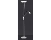 Stehlampe mit Leselampe Nickel matt