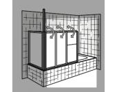 HSK Badewannenaufsatz Prima, 151 cm (ohne Seitenwand)