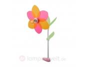 Dekorative Kinderzimmer-Klemmleuchte Blüte