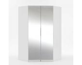 Eckschrank mit 2 Spiegeltüren Innenbeleuchtung
