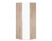 Eckschrank Melva - Eiche Sonoma Dekor/LackWeiß - BxH: 92,3 x 216 cm, Express Möbel