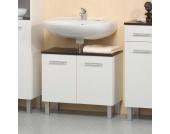 Waschtischunterschrank in Weiß Wenge Dekor