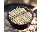 Popcorn-Pfanne für Grill und Lagerfeuer