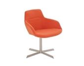 Edelstahl Clubsessel, Lounge-Sessel BURGAS mit Stoffbezug in bis zu 4 Farben