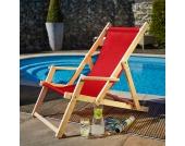 Strand Liegestuhl in Rot klappbar