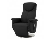 Massagesessel Colby - Echtleder - Einmotorige Verstellung - Schwarz, Nuovoform