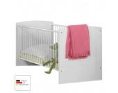 Babybett Gina - Alpinweiß/Hochglanz Brombeer - mit Schubkasten & Bettseiten, Wimex