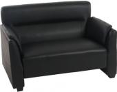 heute-wohnen 2er Sofa Couch Loungesofa Loiret, Kunstleder schwarz
