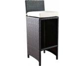 Polyrattan Outdoor Barhocker LENOX mit gratis Sitzkissen, ALU Gestell: 100 % rostfrei, Sitzhöhe 75 cm, aus bis zu 4 Rattan-Farben wählen