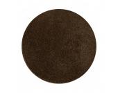 Shaggy Teppich Euphoria Rund - Braun - Ø 180 cm, Testil