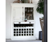 Hausbar Schrank in Weiß Landhausstil