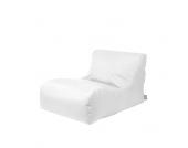 Outdoor Sitzsack Liege in Weiß Kunstleder