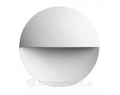 Wandeinbauleuchte Giano mit LED, weiß matt