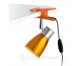 Flexible LED-Klemmleuchte Aladino Pinza orange