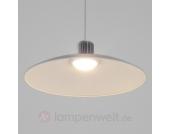 Weiße Metall-Hängeleuchte Jonus mit LED