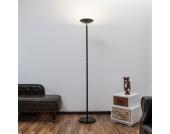 Schwarzer LED-Deckenfluter Malea
