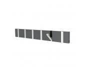 Garderobenleiste Knax 6 - MDF Faserplatte - Grau, Loca