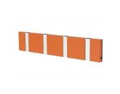 Garderobenleiste Knax 4 - MDF Faserplatte - Orange, Loca