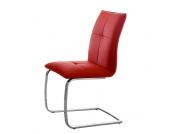 Schwingstuhl in Rot Kunstleder (2er Set)