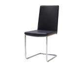 Freischwinger Stuhl in Schwarz online bestellen (4er Set)
