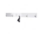 Garderobenleiste in Weiß Hochglanz modern