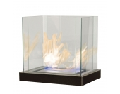 Tischkamin Top Flame - Stahl, pulverbeschichtet - Schwarz, Radius