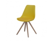 Stuhl in Gelb mit gepolsterter Schale (2er Set)