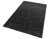 my home Hochflor-Teppich »Finn«, schwarz, 200x200 cm