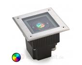 GEA eckige LED Bodeneinbauleuchte mit Farbwechsel