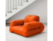 Schlafsessel in Orange Futon