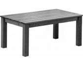 Massivholz Tisch OSLO, ca. 110 x 67 x 50 cm, Couchtisch Taupegrau