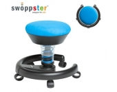 Kinderstuhl / Rollhocker SWOPPSTER Microvelours ocean-blue