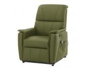 Massagesessel Clifford (mit Aufstehhilfe) - Echtleder - Olivgrün, Nuovoform