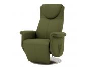 Massagesessel Colby - Echtleder - Mechanische Verstellung - Olivgrün, Nuovoform