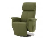 Massagesessel Blake - Echtleder - Mechanische Verstellung - Olivgrün, Nuovoform