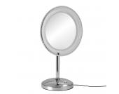 Standspiegel Mariella (inkl. LED-Beleuchtung) - Silber, Nicol Wohnausstattungen