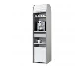 Büroschrank Dancer - Silber - Weiß - Mit Kühlschrank, MS Schuon
