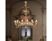12-flammiger, floraler Designer-Kronleuchter 8004