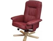 heute-wohnen Relaxsessel Fernsehsessel Sessel ohne Hocker M56 Kunstleder bordeaux