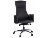 Bürostuhl / Chefsessel STYLE-TEC Leder schwarz hjh OFFICE