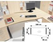 Freiform Schreibtisch in Ahornfarben