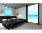 Ocean Mono Wasserbett, 200 x 200 cm, schwarz, F6