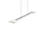 EEK A+, LED-Pendelleuchte - mit satiniertem Glas, Lux
