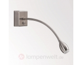 LED-Wandleuchte PILAR mit Flex-Arm, nickel