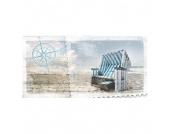 Kunstdruck Strandkorb 100x50, Pro Art
